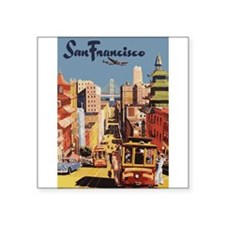 "Cute San francisco california Square Sticker 3"" x 3"""