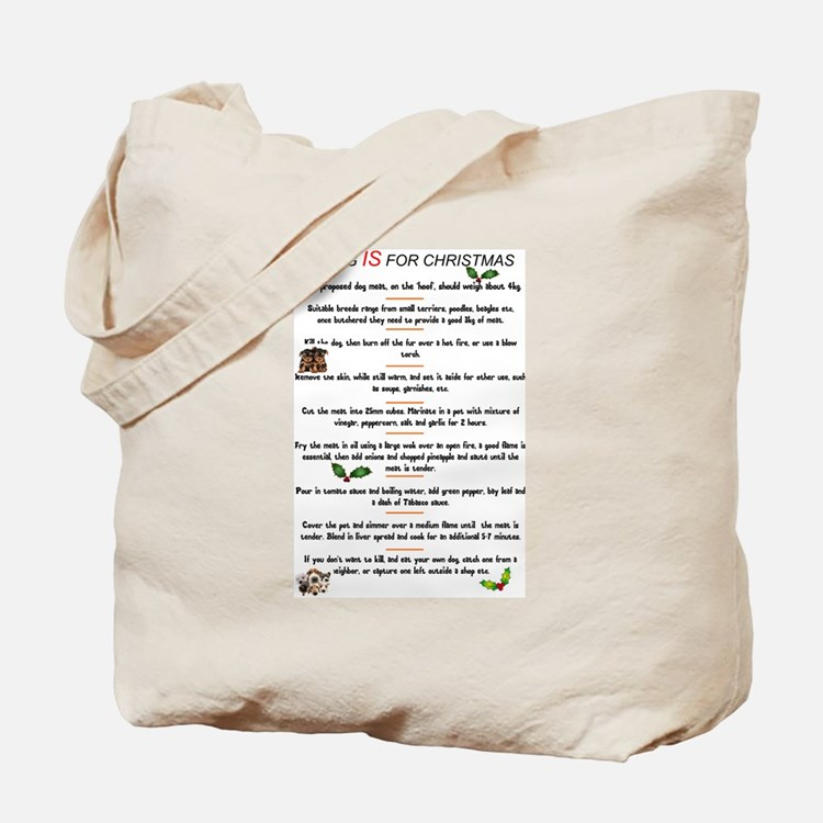 DOG MEAT - CHRISTMAS MENU Tote Bag