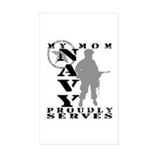 Mom Proudly Serves - NAVY Rectangle Decal