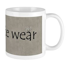 Personalised Gray Concrete Wear Textured Mugs