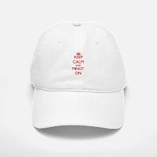 Keep calm and Minot Massachusetts ON Baseball Baseball Cap