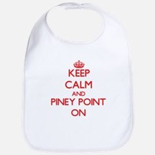 Keep calm and Piney Point Massachusetts ON Bib