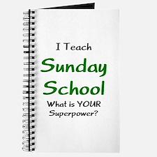 teach sunday school Journal