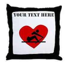 Rowing Heart (Custom) Throw Pillow