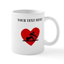 Rowing Heart (Custom) Mugs
