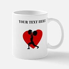 Weightlifting Heart (Custom) Mugs