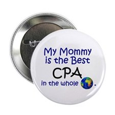 "Best CPA In The World (Mommy) 2.25"" Button (10 pac"