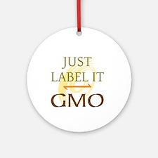 GMO - Label It Ornament (Round)