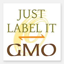 "GMO - Label It Square Car Magnet 3"" x 3"""