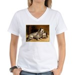 TWO TERRIERS Women's V-Neck T-Shirt