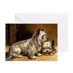 TWO TERRIERS Greeting Cards (Pk of 20)