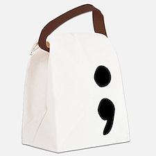 semicolon Canvas Lunch Bag
