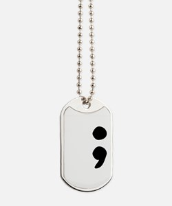 Semicolon Dog Tags