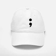 semicolon Baseball Baseball Baseball Cap