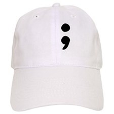 semicolon Baseball Baseball Cap