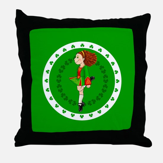Irish Dancing Throw Pillow