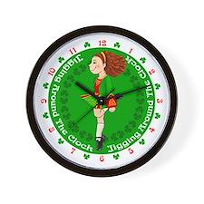 Irish Dancing Wall Clock