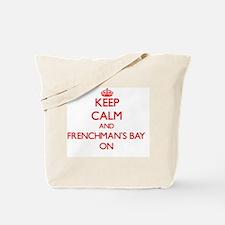 Keep calm and Frenchman'S Bay Virgin Isla Tote Bag