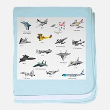 Planes and Jets baby blanket