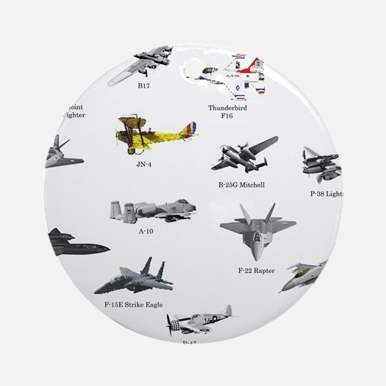 Planes and Jets Ornament (Round)