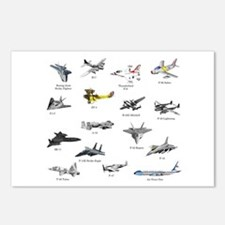 Planes and Jets Postcards (Package of 8)
