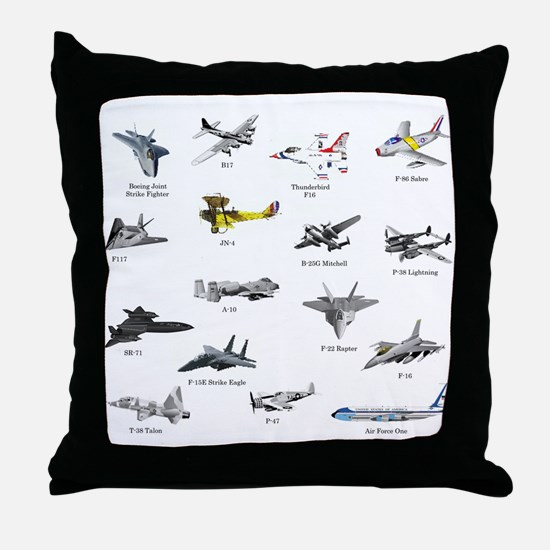 Planes and Jets Throw Pillow