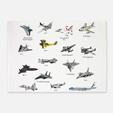 Planes and Jets 5'x7'Area Rug