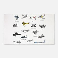 Planes and Jets Area Rug