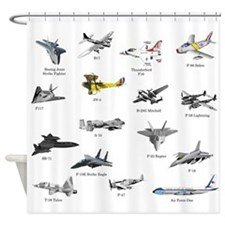 Planes and Jets Shower Curtain