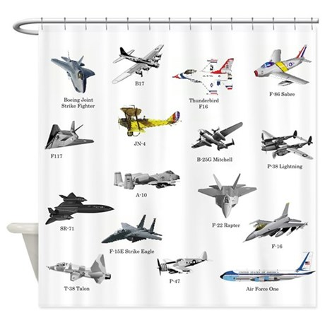 Superior Planes And Jets Shower Curtain