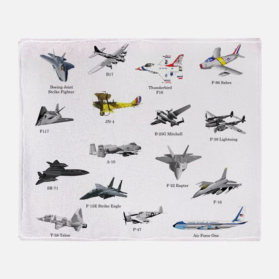 Planes and Jets Throw Blanket