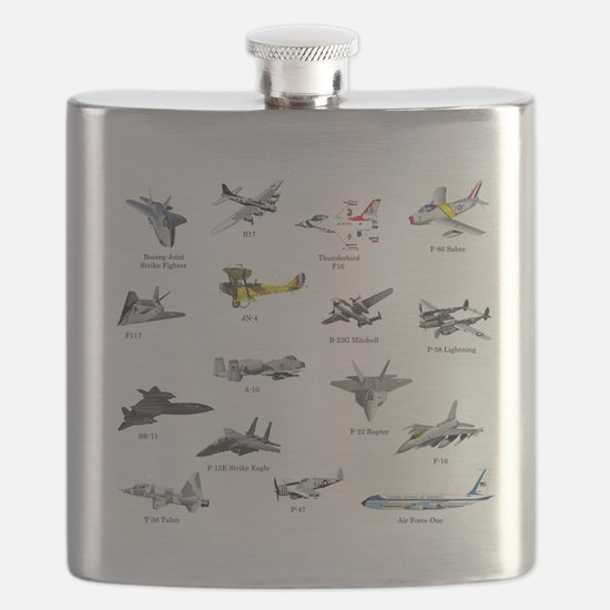 Planes and Jets Flask