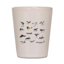 Planes and Jets Shot Glass