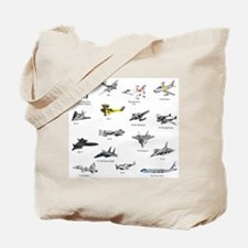 Planes and Jets Tote Bag