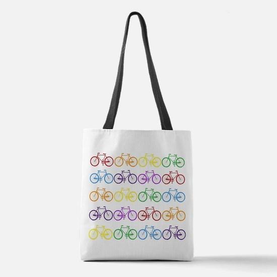 Rack O' Bicycles Polyester Tote Bag