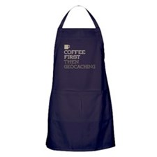 Coffee Then Geocaching Apron (dark)
