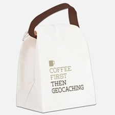 Coffee Then Geocaching Canvas Lunch Bag