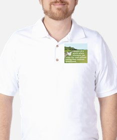 I DREAM OF A WORLD WHERE CHICKENS CAN C Golf Shirt