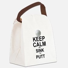 KEEP CALM AND SINK THE PUTT Canvas Lunch Bag