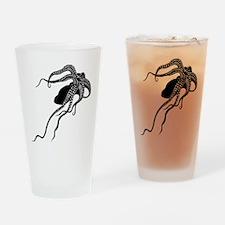 Vintage Octopus in Black Drinking Glass