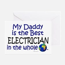 Best Electrician In The World (Daddy) Greeting Car