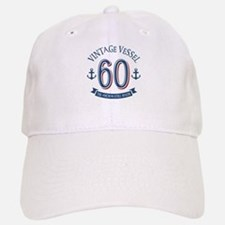 Nautical 60th Birthday Baseball Baseball Cap