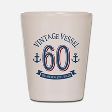 Nautical 60th Birthday Shot Glass