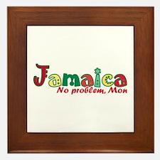 Jamaica No Problem Framed Tile