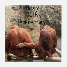 Anniversary Orangutans Tile Coaster
