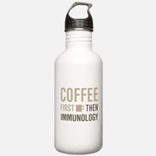 Coffee Then Immunology Water Bottle