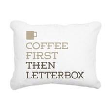Coffee Then Letterbox Rectangular Canvas Pillow