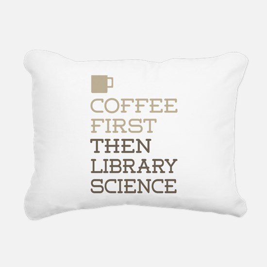Library Science Rectangular Canvas Pillow
