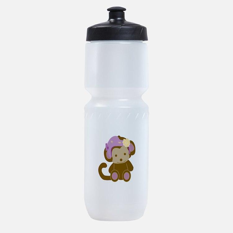 Girl Monkey Helmet Sports Bottle