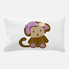 Girl Monkey Helmet Pillow Case